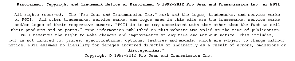 e Pro Gear Disclaimer